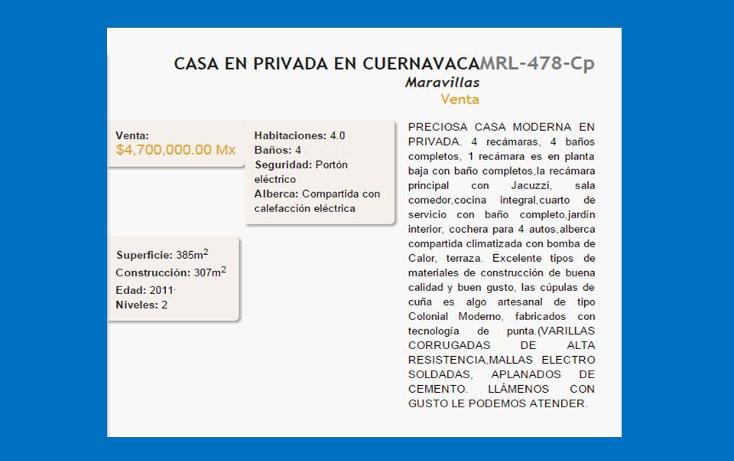 Foto de casa en venta en  , maravillas, cuernavaca, morelos, 1163277 No. 02