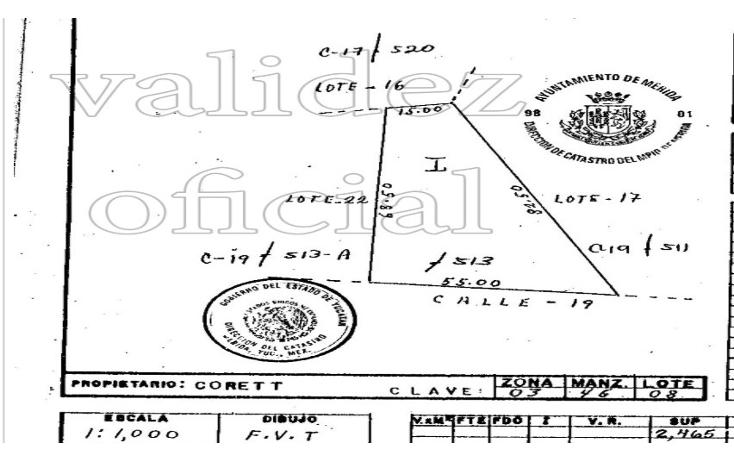 Foto de terreno habitacional en venta en  , maya, m?rida, yucat?n, 1541794 No. 01