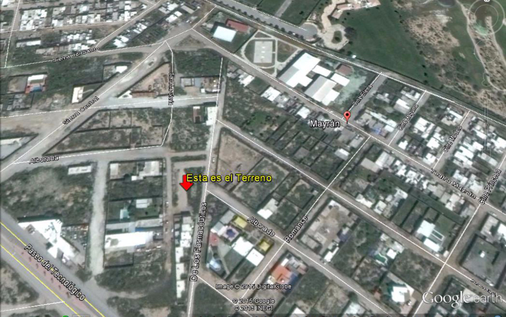 Foto de terreno habitacional en venta en  , mayrán, torreón, coahuila de zaragoza, 1040907 No. 02