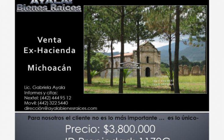 Foto de rancho en venta en michoacán, rincón de vista bella, morelia, michoacán de ocampo, 1160267 no 01