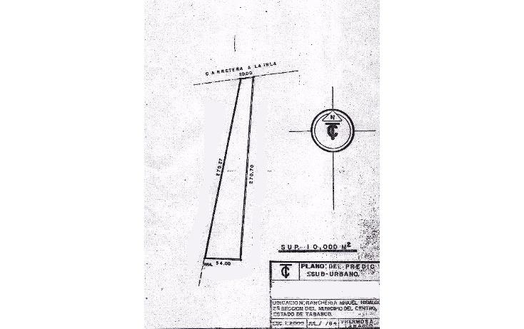 Foto de terreno comercial en venta en  , miguel hidalgo 2a secci?n, centro, tabasco, 1141537 No. 02