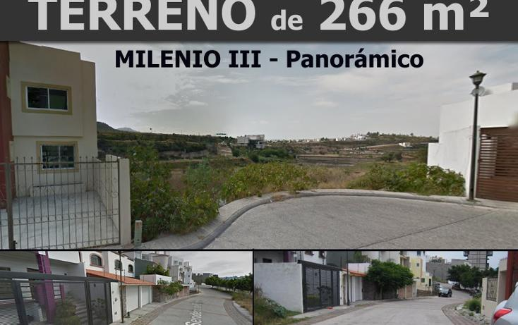 Foto de terreno habitacional en venta en  , milenio iii fase a, querétaro, querétaro, 1618428 No. 01