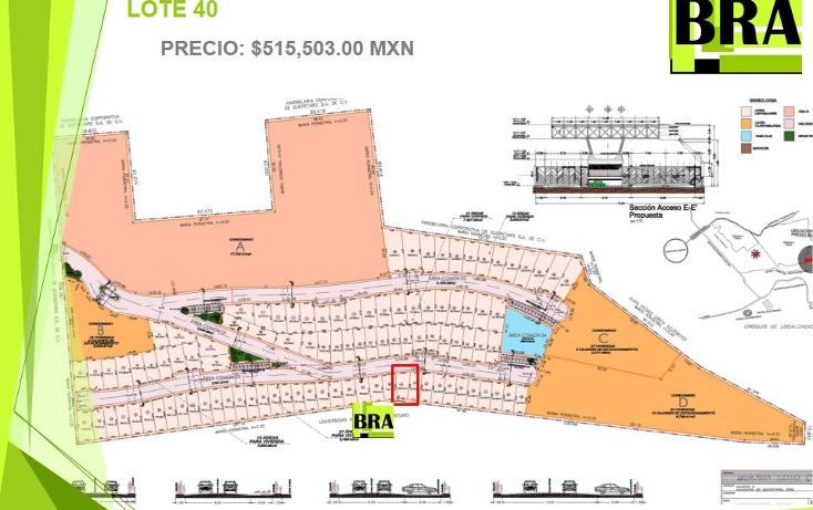 Foto de terreno habitacional en venta en  , milenio iii fase b sección 11, querétaro, querétaro, 1793822 No. 04