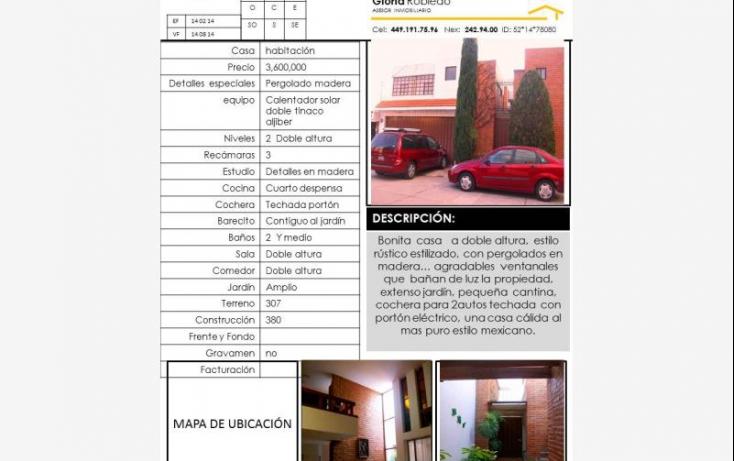 Foto de casa en venta en montebello 102, lomas del campestre 2a sección, aguascalientes, aguascalientes, 604482 no 01