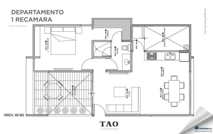 Foto de departamento en venta en, montebello, mérida, yucatán, 1818812 no 05