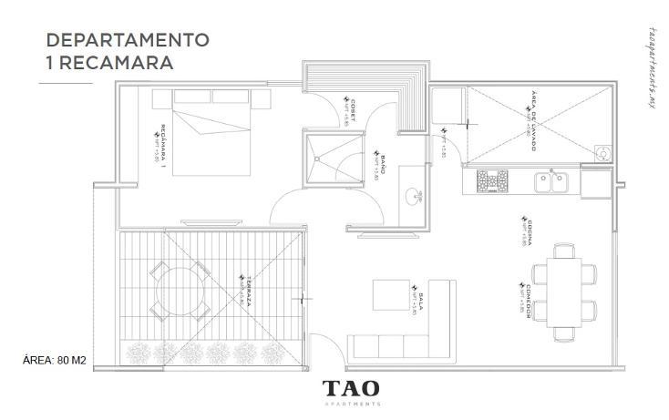 Foto de departamento en venta en  , montebello, m?rida, yucat?n, 1819616 No. 02
