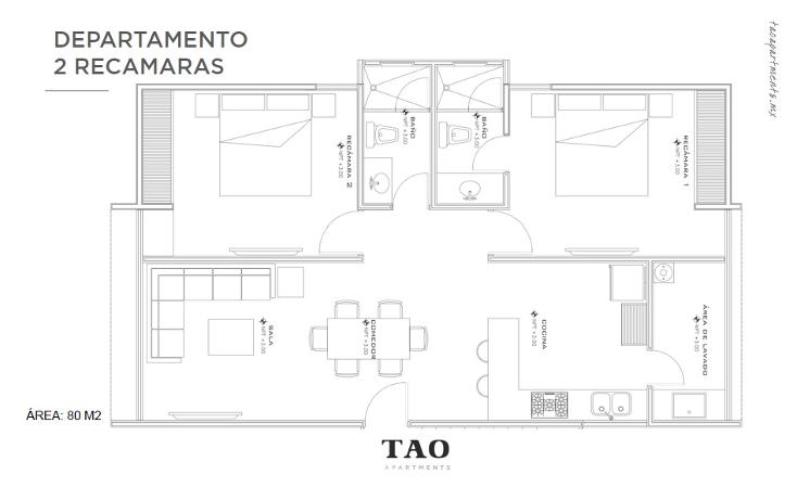 Foto de departamento en venta en  , montebello, m?rida, yucat?n, 1819616 No. 03