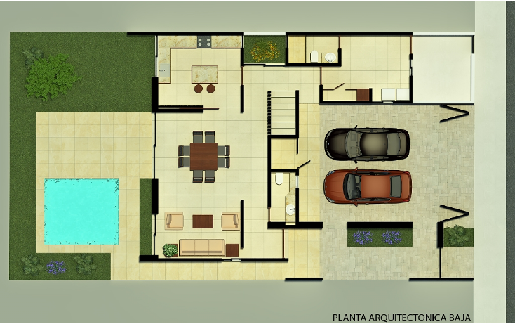 Foto de casa en venta en  , monterreal, m?rida, yucat?n, 1467915 No. 03