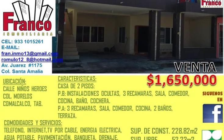 Foto de casa en venta en  , morelos, comalcalco, tabasco, 1620666 No. 09