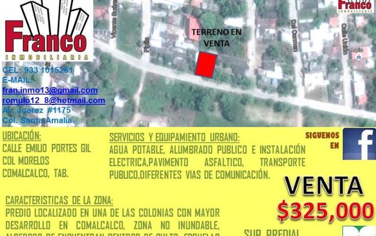 Foto de terreno habitacional en venta en emilio portes gil , morelos, comalcalco, tabasco, 1734384 No. 01