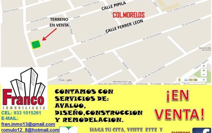 Foto de terreno habitacional en venta en  , morelos, comalcalco, tabasco, 1734384 No. 02