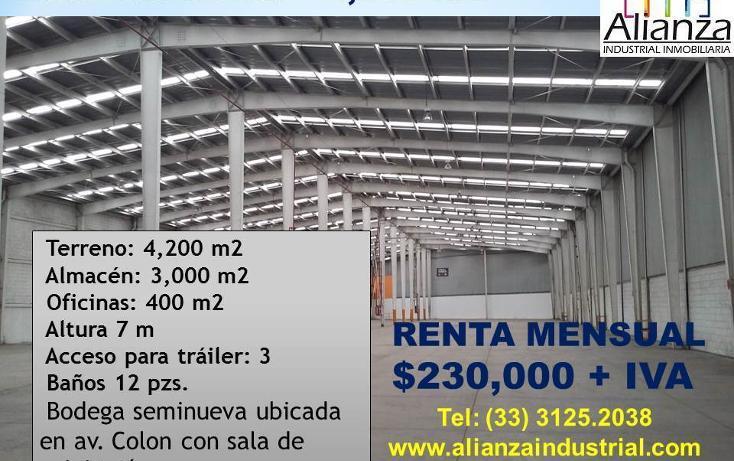 Foto de nave industrial en renta en  , morelos, guadalajara, jalisco, 472791 No. 01
