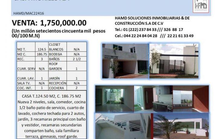 Foto de casa en venta en, morillotla, san andrés cholula, puebla, 1797718 no 05