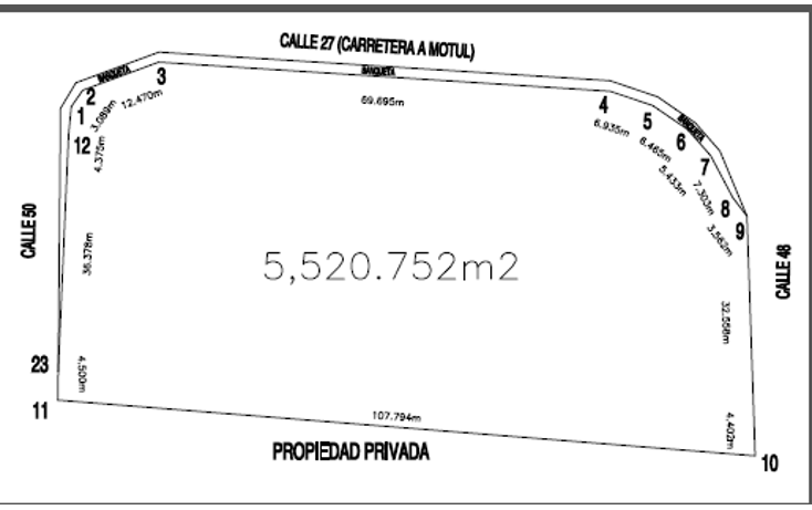 Foto de terreno comercial en venta en  , motul de carrillo puerto centro, motul, yucatán, 1290173 No. 03