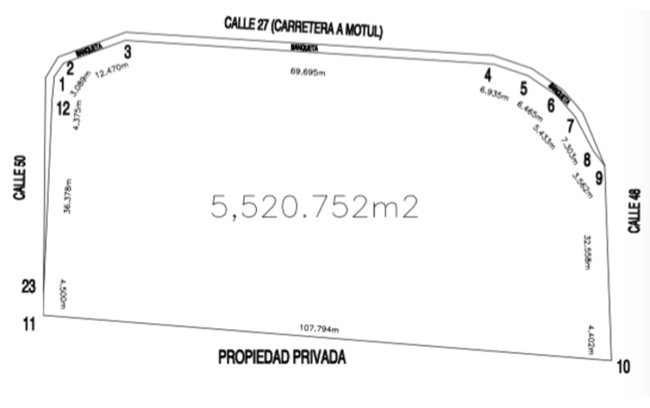 Foto de terreno comercial en venta en  , motul de carrillo puerto centro, motul, yucatán, 1556952 No. 02