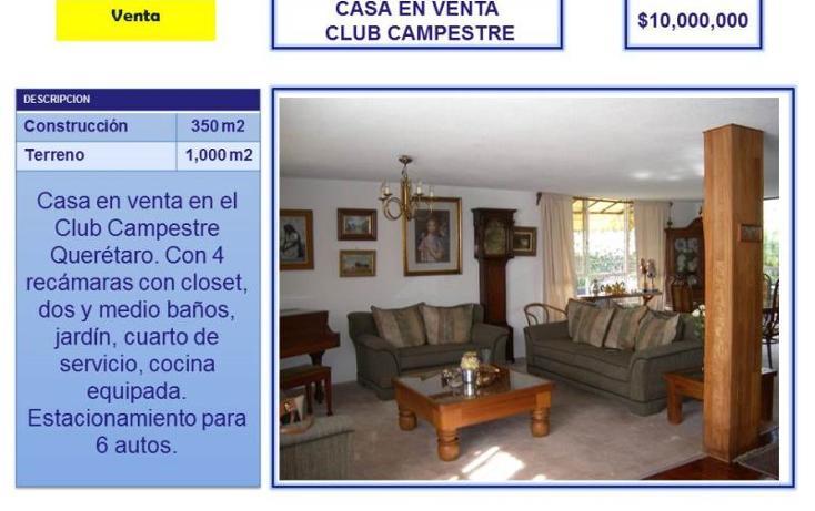 Foto de casa en venta en  nd, club campestre, querétaro, querétaro, 754195 No. 01