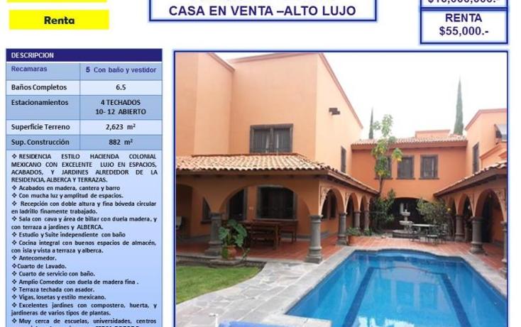 Foto de casa en venta en  nd, juriquilla, quer?taro, quer?taro, 754189 No. 01