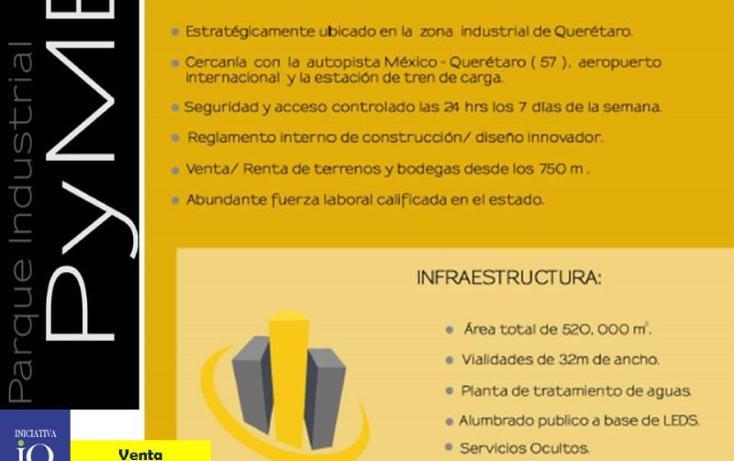 Foto de terreno industrial en venta en  nd, la noria, el marqués, querétaro, 754235 No. 02