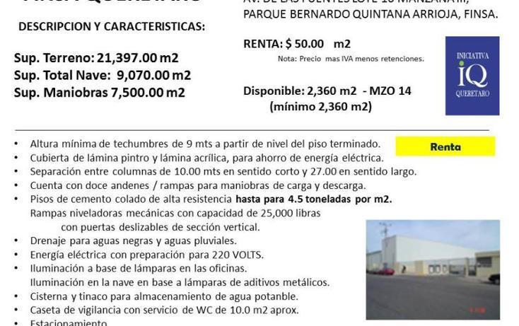 Foto de nave industrial en renta en  nd, paseos del marques, el marqués, querétaro, 754147 No. 02
