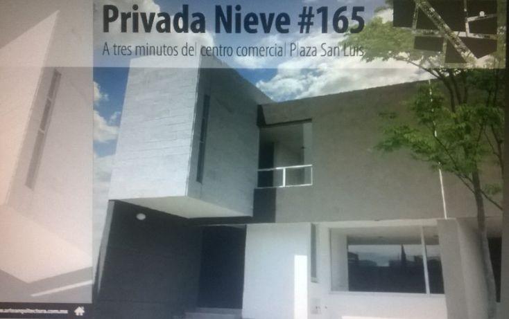 Foto de casa en venta en nieve, garita de jalisco, san luis potosí, san luis potosí, 1006449 no 01