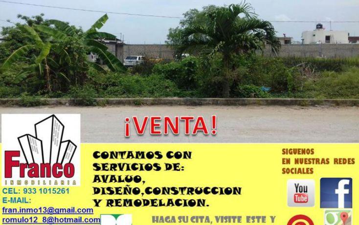 Foto de terreno habitacional en venta en niños heroes, fovissste, comalcalco, tabasco, 1945432 no 03