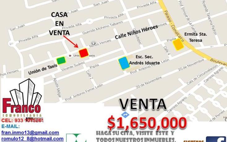 Foto de casa en venta en niños heroes, morelos, comalcalco, tabasco, 1620666 no 03
