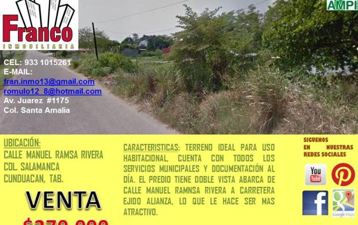 Foto de terreno habitacional en venta en  nonumber, alianza, cunduacán, tabasco, 1945384 No. 03
