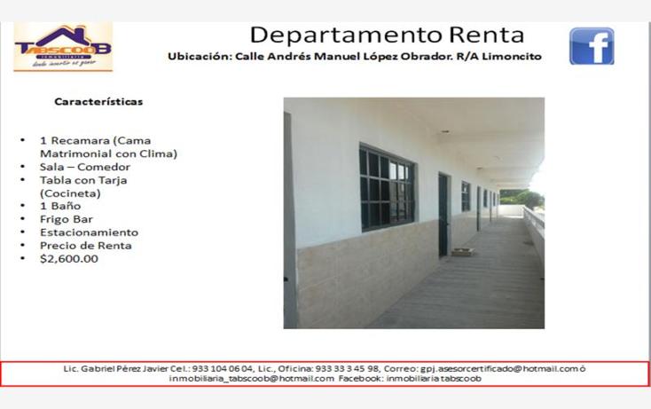 Foto de departamento en renta en  nonumber, el limoncito, paraíso, tabasco, 1752496 No. 01