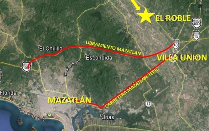 Foto de terreno industrial en venta en  nonumber, el roble, mazatlán, sinaloa, 985557 No. 02