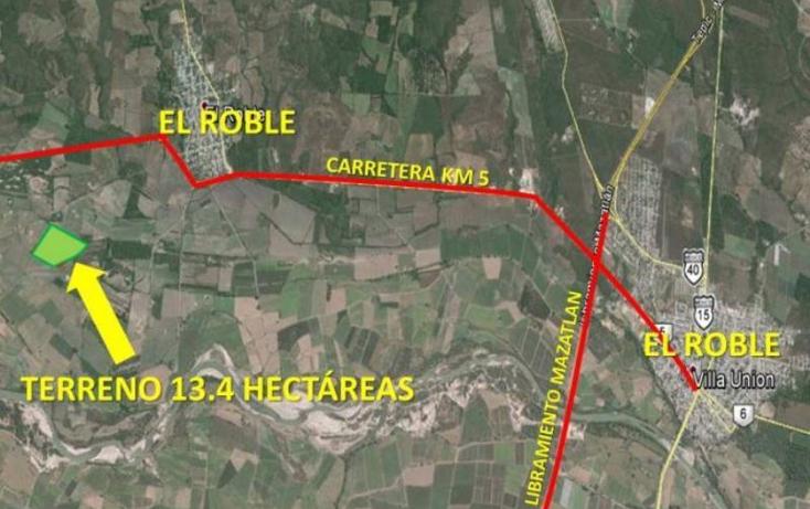 Foto de terreno industrial en venta en  nonumber, el roble, mazatlán, sinaloa, 985557 No. 03