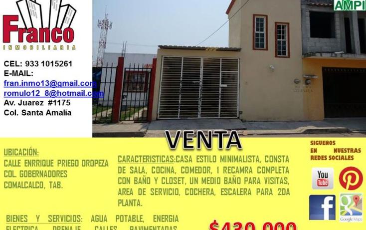 Foto de casa en venta en  nonumber, gobernadores, comalcalco, tabasco, 1934548 No. 07