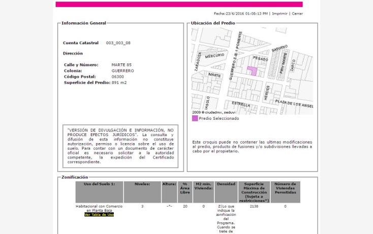 Foto de terreno comercial en venta en  nonumber, guerrero, cuauhtémoc, distrito federal, 2023624 No. 03