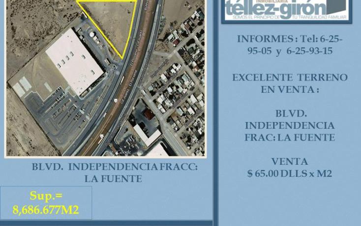 Foto de terreno industrial en venta en  nonumber, la fuente, ju?rez, chihuahua, 1222491 No. 01