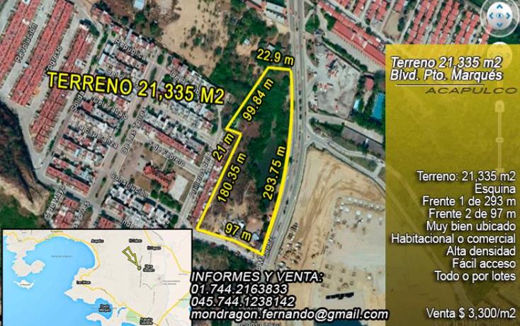 Foto de terreno comercial en venta en  nonumber, llano largo, acapulco de juárez, guerrero, 1377873 No. 01