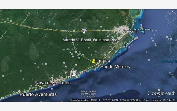 Foto de terreno comercial en venta en  nonumber, puerto morelos, benito ju?rez, quintana roo, 537091 No. 02