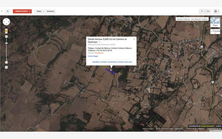 Foto de terreno habitacional en venta en  nonumber, san miguel topilejo, tlalpan, distrito federal, 878997 No. 11