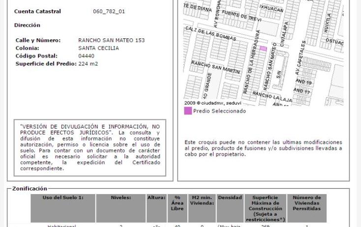 Foto de casa en venta en  nonumber, santa cecilia, coyoac?n, distrito federal, 2010640 No. 03