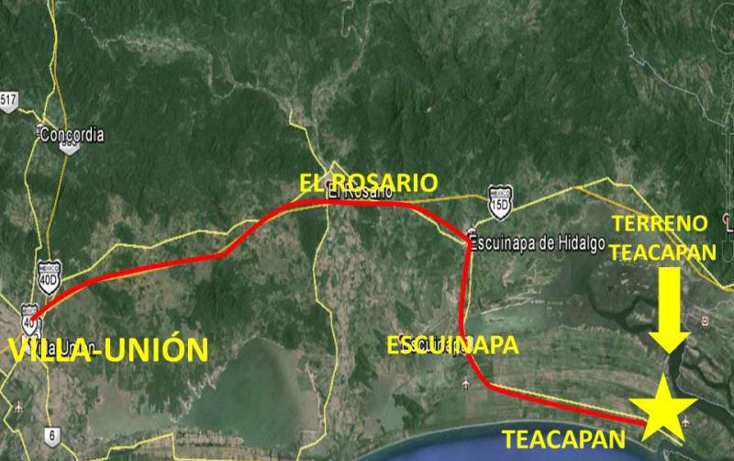 Foto de terreno comercial en venta en  nonumber, teacapan, escuinapa, sinaloa, 1592434 No. 03