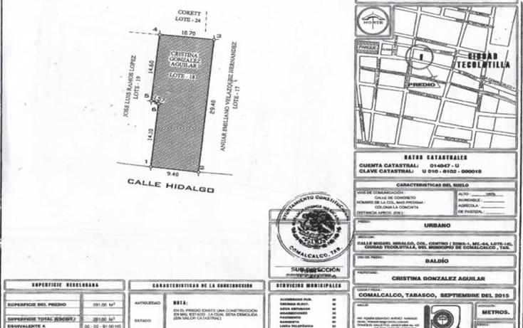 Foto de terreno comercial en venta en  nonumber, tecolutilla, comalcalco, tabasco, 1992294 No. 07