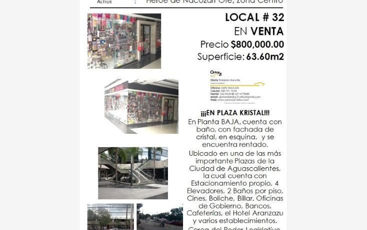 Foto de local en venta en  nonumber, zona centro, aguascalientes, aguascalientes, 384953 No. 03