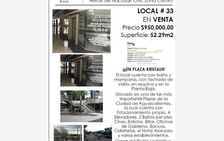 Foto de local en venta en  nonumber, zona centro, aguascalientes, aguascalientes, 384953 No. 04