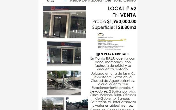 Foto de local en venta en  nonumber, zona centro, aguascalientes, aguascalientes, 384953 No. 05