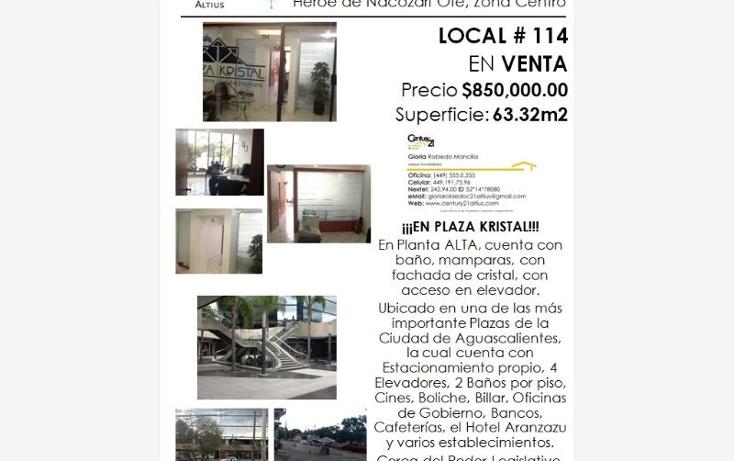 Foto de local en venta en  nonumber, zona centro, aguascalientes, aguascalientes, 384953 No. 07