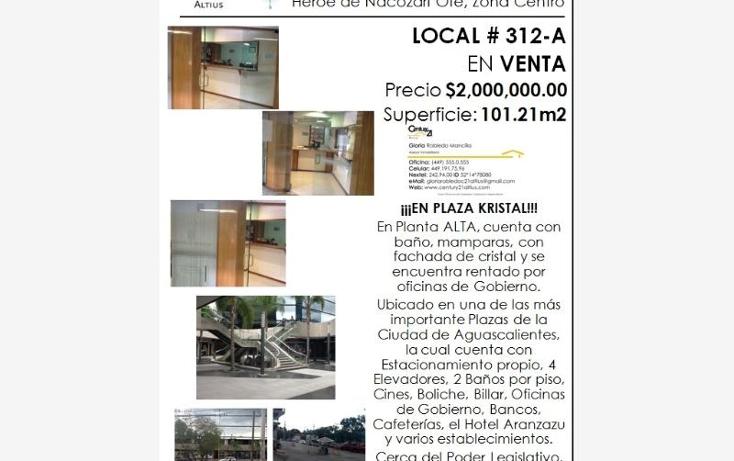 Foto de local en venta en  nonumber, zona centro, aguascalientes, aguascalientes, 384953 No. 08