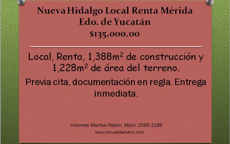 Foto de local en renta en  , nueva hidalgo, m?rida, yucat?n, 1087609 No. 01