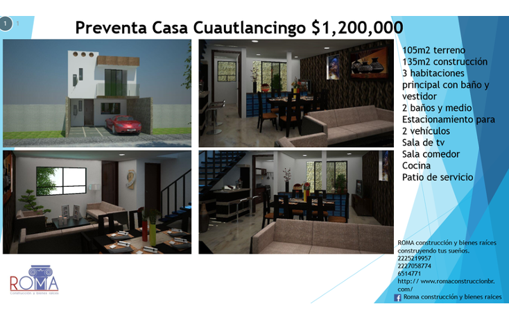 Foto de casa en venta en  , nuevo le?n, cuautlancingo, puebla, 1646495 No. 01