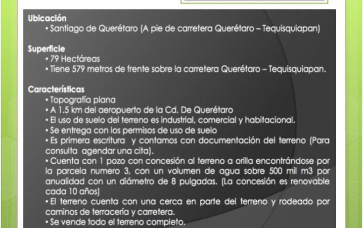 Foto de terreno industrial en venta en  o, querétaro, querétaro, querétaro, 958079 No. 04