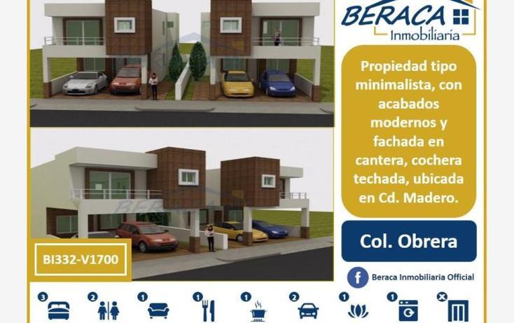 Foto de casa en venta en  , obrera, ciudad madero, tamaulipas, 1935074 No. 01