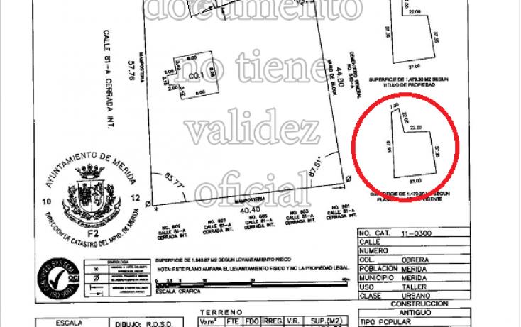 Foto de terreno habitacional en venta en, obrera, mérida, yucatán, 1962257 no 05