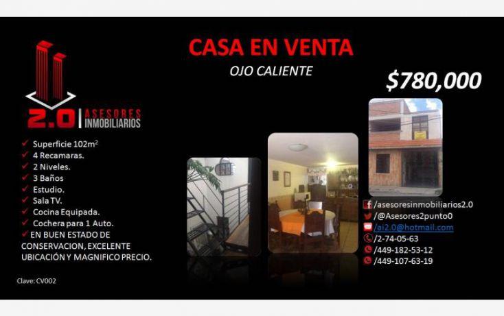 Foto de casa en venta en, ojocaliente, calvillo, aguascalientes, 1824522 no 01